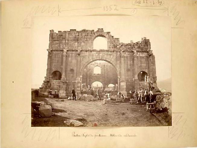 Expédition en Algérie, sites archéologiques, 1865, Lambèse, album réalisé par un militaire photographe posté à Lambèse), archives Société de Géographie (PETFOL-VH-287)